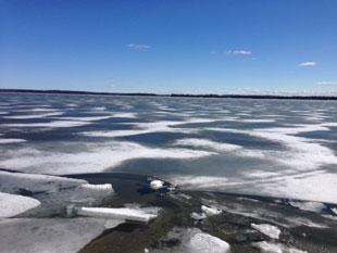 Ice Break Up Balsam Lake