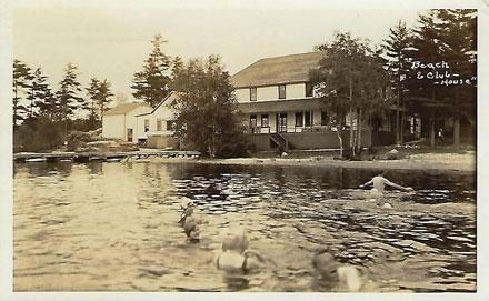 Heritage Postcard ~ Balsam Lake Beach Club House