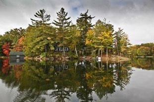 Autumn at Salter's Island, Shadow Lake